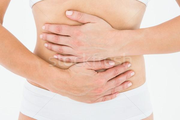 Geschikt vrouw maag pijn witte lichaam Stockfoto © wavebreak_media