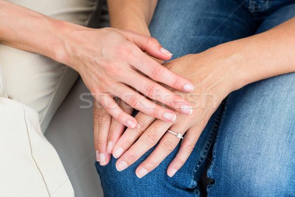 Terapeuta pocieszający pacjenta biały kobieta stres Zdjęcia stock © wavebreak_media