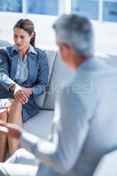 Pessoas de negócios juntos sofá escritório homem Foto stock © wavebreak_media