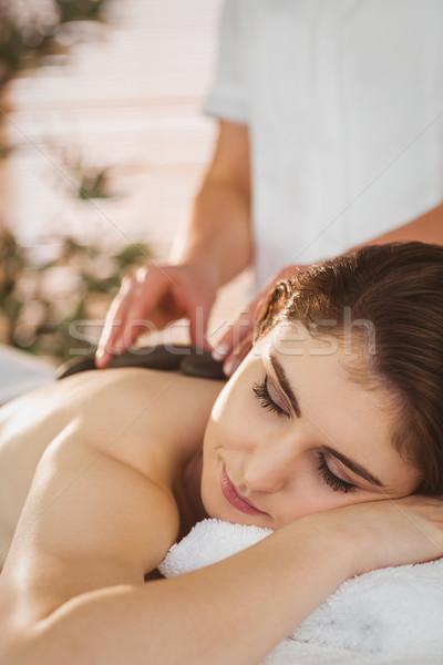 Caldo pietra massaggio terapia stanza Foto d'archivio © wavebreak_media
