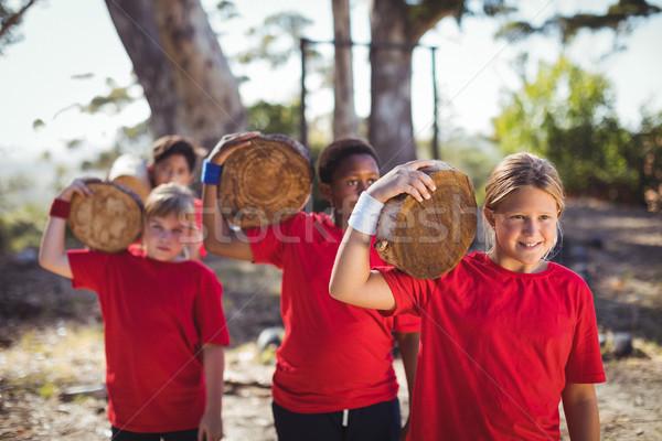 Dzieci szkolenia boot Zdjęcia stock © wavebreak_media