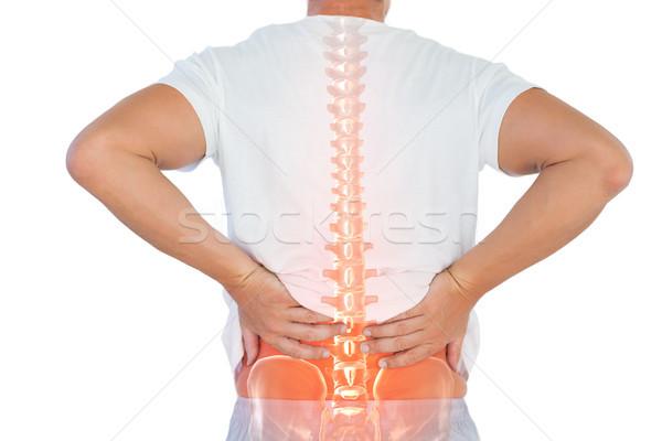 Dijital bileşik omurga adam sırt ağrısı beyaz takım Stok fotoğraf © wavebreak_media