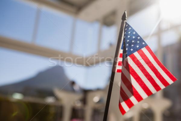Bandera de Estados Unidos restaurante primer plano azul viaje rojo Foto stock © wavebreak_media