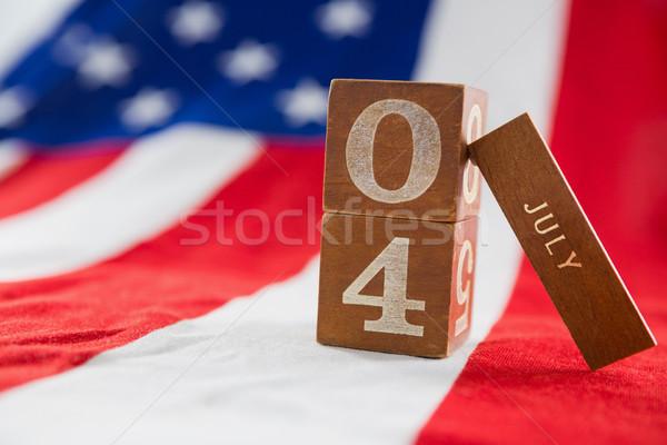 Tarih bloklar amerikan bayrağı arka plan Stok fotoğraf © wavebreak_media