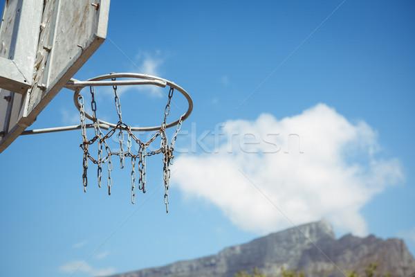 Alulról fotózva kilátás kosárlabda égbolt napos idő fehér Stock fotó © wavebreak_media