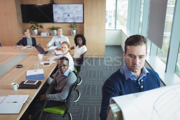 Sérieux affaires entrepreneur stratégie équipe Photo stock © wavebreak_media