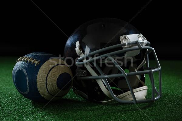 Football balle noir cuir Photo stock © wavebreak_media