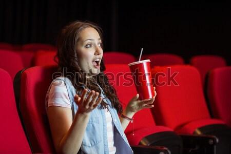 Gelukkig man kijken film theater film Stockfoto © wavebreak_media