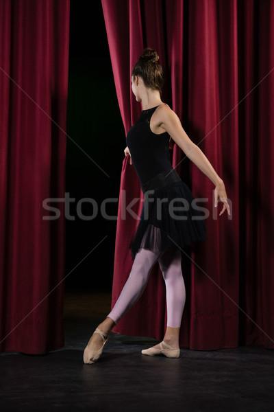 Ballerina előad balett tánc színpad színház Stock fotó © wavebreak_media
