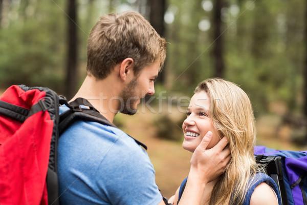 молодые счастливым турист пару глядя другой Сток-фото © wavebreak_media