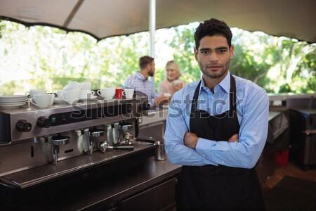 Chef alimentare piatto cameriera fine stazione Foto d'archivio © wavebreak_media