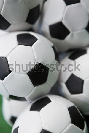 Stacked football soccer balls Stock photo © wavebreak_media
