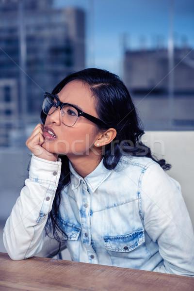 Asian vrouw kin vuist kantoor Stockfoto © wavebreak_media