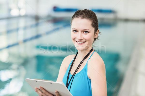 Güzel havuz kadın su Stok fotoğraf © wavebreak_media