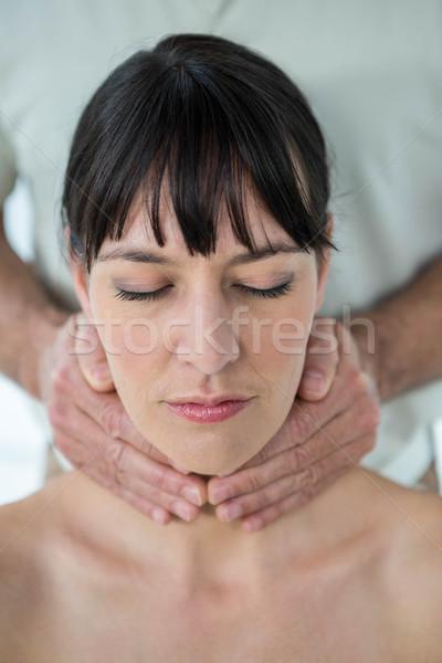 妊婦 マッサージ マッサージ師 女性 医療 ストックフォト © wavebreak_media