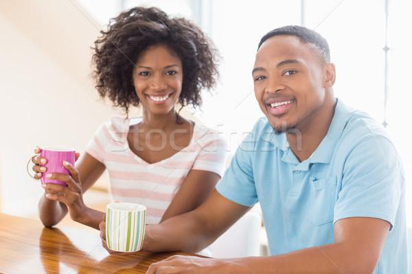 幸せ カップル コーヒーマグ 肖像 ホーム ストックフォト © wavebreak_media
