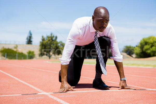 Businessman ready to run Stock photo © wavebreak_media