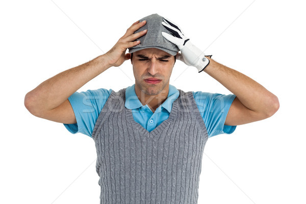 Frustrated golf player standing on white background Stock photo © wavebreak_media