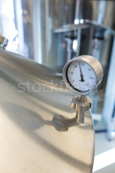 Close-up of barometer on distillery Stock photo © wavebreak_media