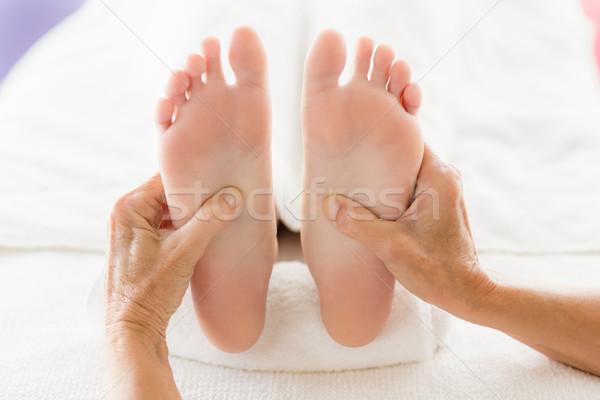 Kép nő láb masszázs fürdő sport Stock fotó © wavebreak_media