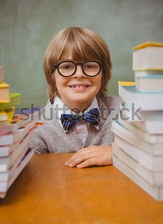 Close-up of schoolkid pretending to be a teacher in classroom Stock photo © wavebreak_media