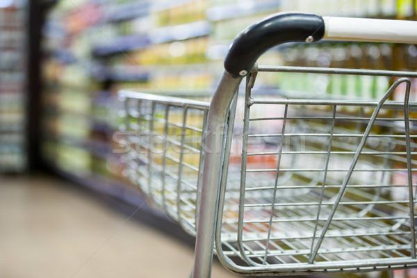 Lege winkelwagen kruidenier supermarkt business Stockfoto © wavebreak_media