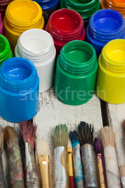 Watercolor paints and paint brushes Stock photo © wavebreak_media