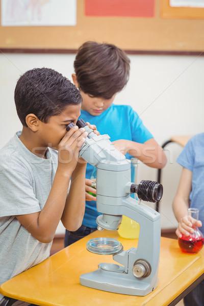 Ciencia lección aula nino clase Foto stock © wavebreak_media