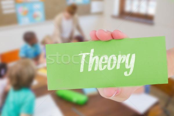 Theorie mooie leraar helpen leerlingen klas Stockfoto © wavebreak_media