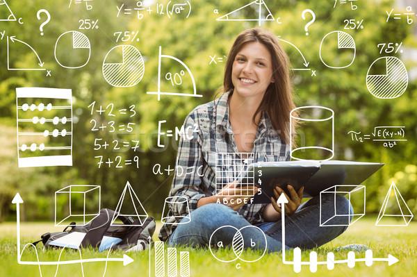 Bild Mathematik Mädchen glücklich Studenten Stock foto © wavebreak_media