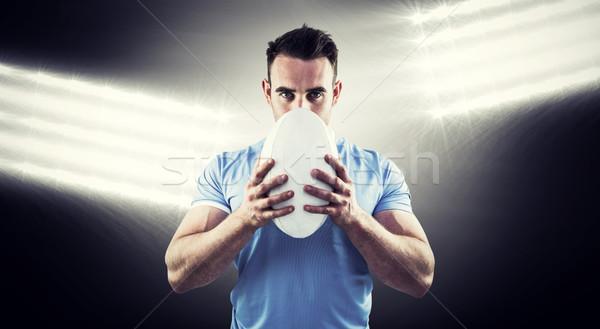 Imagem rugby jogador olhando câmera Foto stock © wavebreak_media