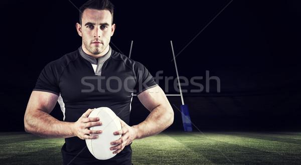 Görüntü sert rugby oyuncu bakıyor Stok fotoğraf © wavebreak_media