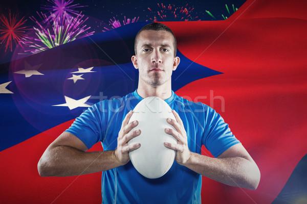 Imagem retrato esportes jogador azul Foto stock © wavebreak_media