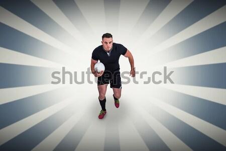 изображение спортсмена положение мяч для регби Сток-фото © wavebreak_media