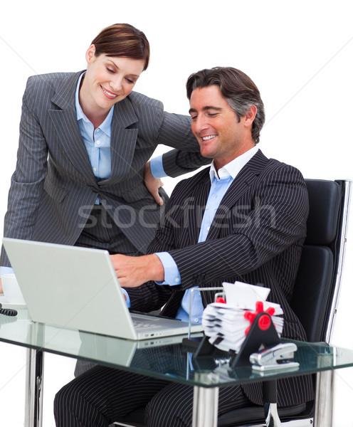 Empresario equipo oficina internet teclado for M bankia es oficina internet