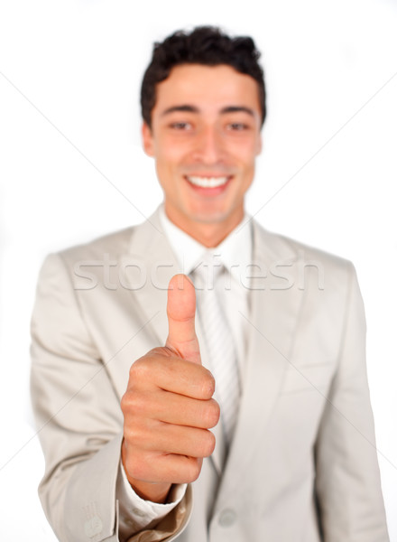 Successful businessman with thumb up  Stock photo © wavebreak_media