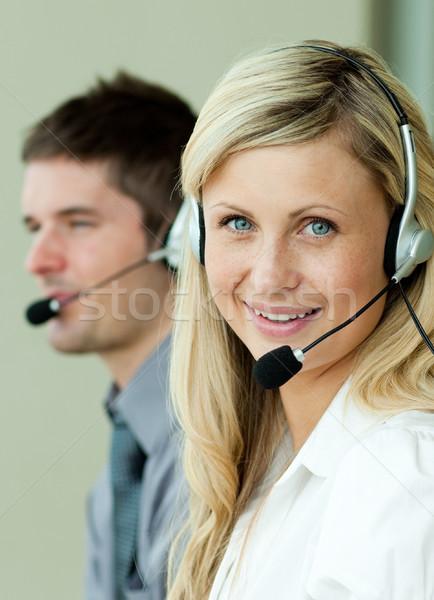 два деловые люди рабочих служба бизнеса интернет Сток-фото © wavebreak_media