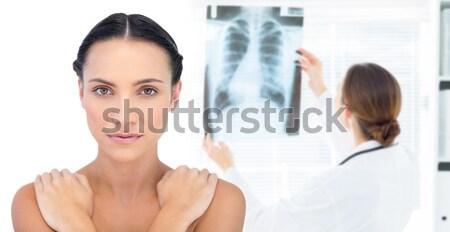 özenli kadın doktor xray küçük kız Stok fotoğraf © wavebreak_media