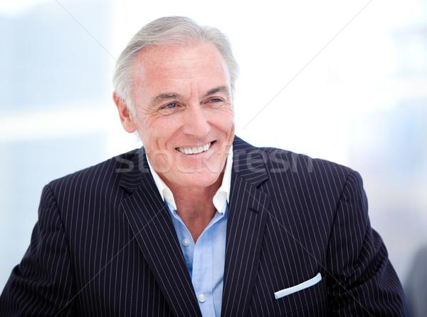 портрет старший бизнесмен улыбаясь служба Сток-фото © wavebreak_media
