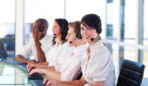 Portré nyugodt több nemzetiségű vásár képviselő csapatmunka Stock fotó © wavebreak_media
