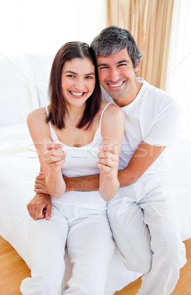 Entusiasta casal fora resultados teste de gravidez Foto stock © wavebreak_media