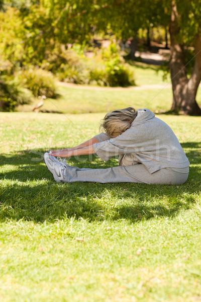 Olgun kadın park kadın sağlık kadın kişi Stok fotoğraf © wavebreak_media