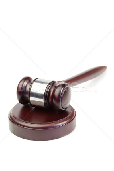 Martelletto bianco legno legge giustizia martello Foto d'archivio © wavebreak_media