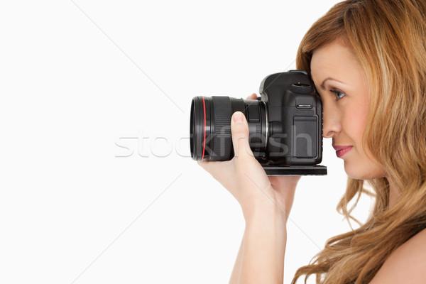 かなり 女性 写真 カメラ 白 ストックフォト © wavebreak_media