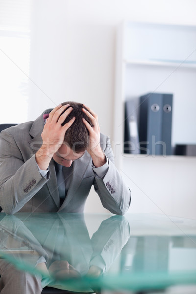 Işadamı başarısız oldu müzakere oturma arkasında Stok fotoğraf © wavebreak_media