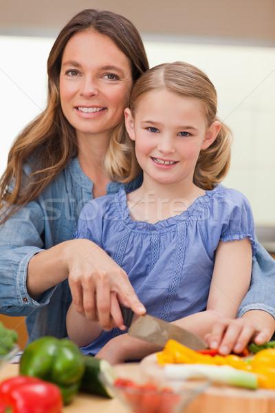 Portret vrouw dochter keuken Stockfoto © wavebreak_media