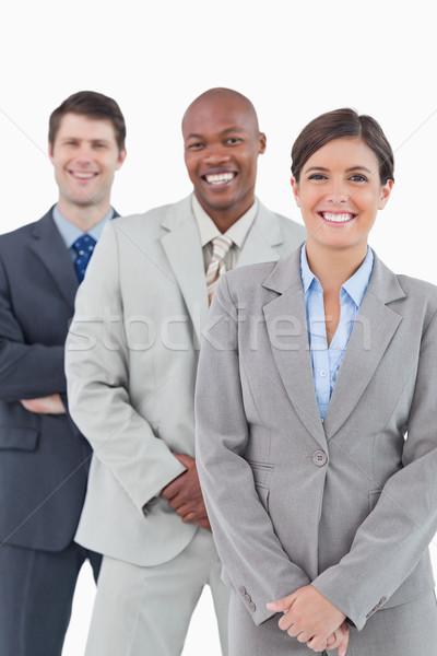 улыбаясь Постоянный вместе белый бизнеса улыбка Сток-фото © wavebreak_media