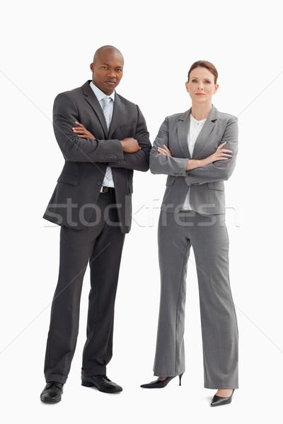 Iş adamı kadın eller toplantı mutlu çift Stok fotoğraf © wavebreak_media