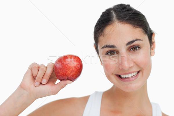 Femme régime alimentaire gala pomme blanche Photo stock © wavebreak_media