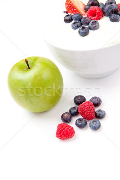 Appel kom bessen room witte achtergrond Stockfoto © wavebreak_media